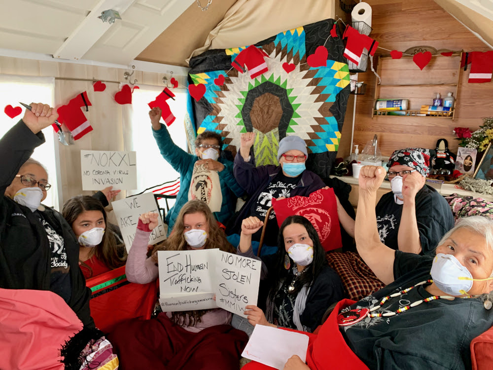 Lakota grandmothers fight man camps amid pandemic. By Talli Numan