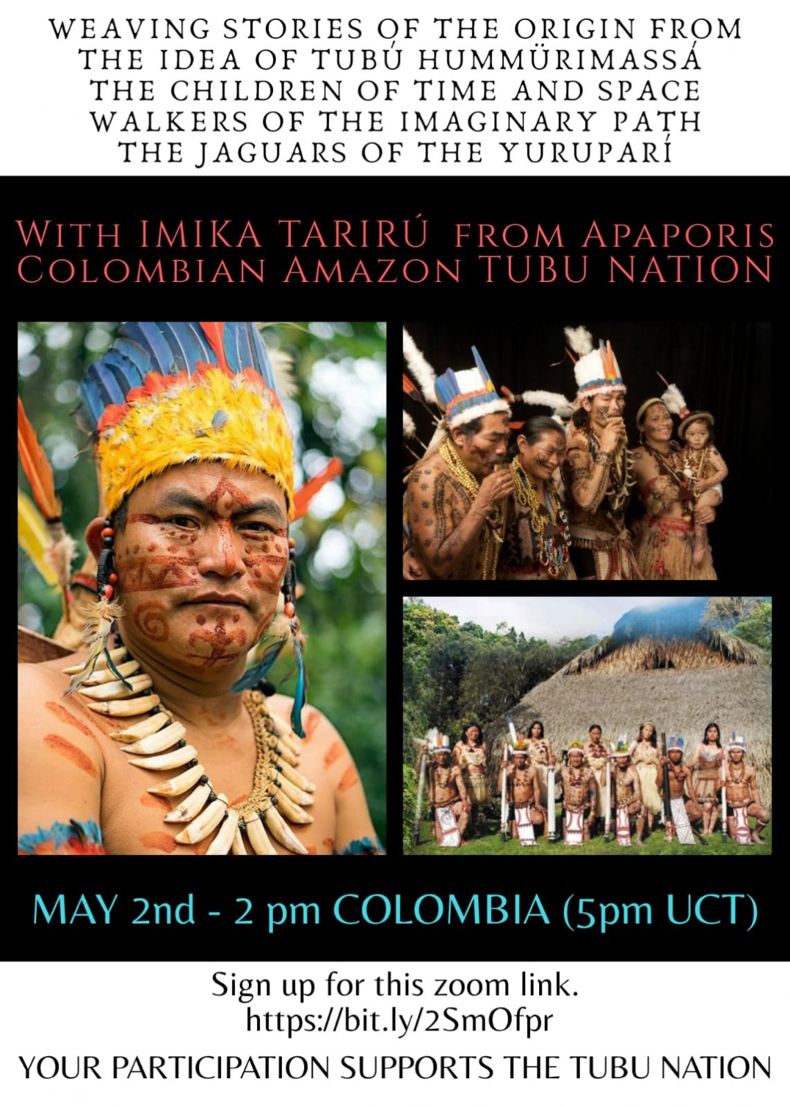 Webinar: Weaving Stories of Origin from the Idea of Tubú Hummürimassá (May 2)