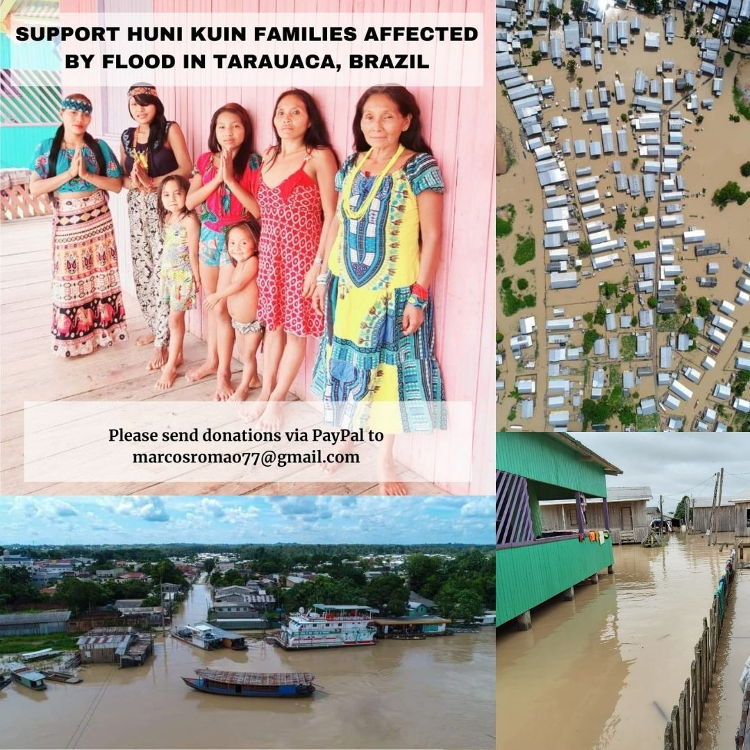 Support Huni Kuin affected by floods in Tarauaca, Acre, Brazil